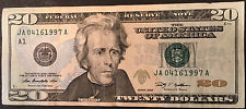 BIRTHDAY ANNIV~APRIL 16 1997 04161997 Fancy Serial Number~$20 Dollar FRN Note