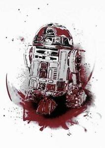 Rare C215 Star Wars R2D2 (R2Q5) Art print - RED Edition Of 50 Signed & Numbered