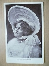 1908 Postcard- Actress MISS MARIE STUDHOLME + Stamp