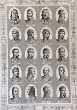 Maréchaux généraux Révolution Empire Napoléon Bonaparte 1850 Maréchal Général 7
