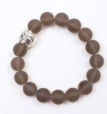 Simon Sebbag Matte Smoky Quartz Stretch Bracelet Sterling Silver B126/MSQ