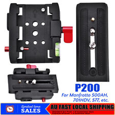 AU P200 Quick Release QR Clamp Base Plate for Manfrotto 500 Ah 701 503 HDV 577