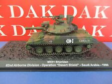 Die cast 1/72 Modellino Carro Armato Tank M551 Sheridan 82 Airborn Desert Shield