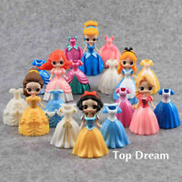 6pcs Princess Action Figures 3 Sets Changed Dress Doll Kids Boys Girls Toys Gift