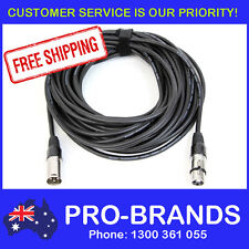 15 Metre XLR Pro QUALITY Male to Female M-F Microphone Mic Cable Lead Cord 15M