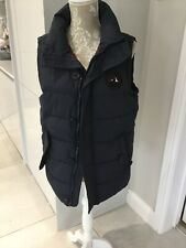 Mens Superdry Padded Navy Gillet Size Small
