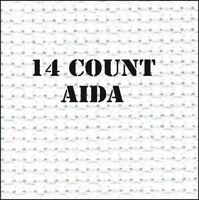 Zweigart Quality AIDA - 14 COUNT WHITE CROSS STITCH FABRIC - 100% COTTON