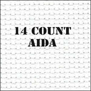 Firm AIDA - 14 COUNT WHITE CROSS STITCH Aida - 100% COTTON