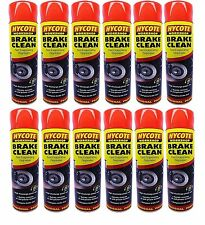 *ONLINE OFFER* 12 X HYCOTE BRAKE or CLUTCH CLEANER - LARGE 600ML CANS X 12