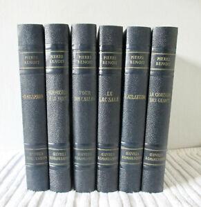 Pierre Benoit. Oeuvres Romanesques (6 Vol. Illustrés) Edit. Martel 1957-1959