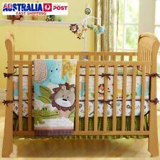 7pcs Baby Bedding Crib Cot Quilt Set Nursery Bumper Sheet Dust Ruffle Blanket AU