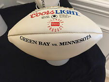 COORS LIGHT 4LBS FOOTBALL PROMO OLDER WITH DISPLAY GREEN BAY VS MINNESOTA