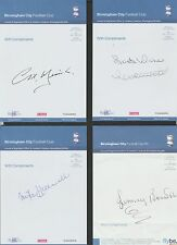 Official BIRMINGHAM CITY compliment slip signed by MIKE HALLAWELL