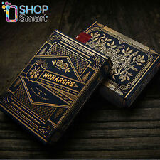 MONARCHS THEORY 11 PLAYING CARDS DECK BLUE GOLD MAGIC TRICKS SEALED NEW