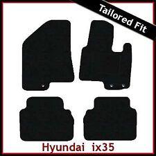 Hyundai ix35/Tucson Mk2 2010-2015 a Medida Alfombra Alfombrillas De Coche Negro Equipada