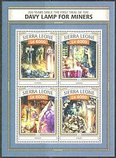 SIERRA LEONE  2016  DAVY LAMP FOR MINERS  SHEET MINT NH