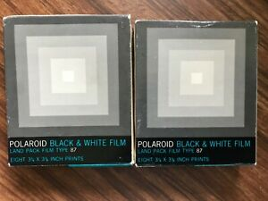 16 POLAROID Black & White Land Pack Film Type 87 Exp. May of 1978 NOS NIB