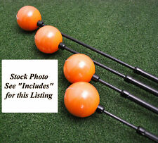 Orange Whip Driver Swing Trainer & Compact - Combo 2pc Golf Aid Set - New
