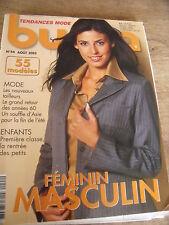 MAGAZINE BURDA TENDANCES FEMININ MASCULIN   N° 44 AOUT 2003
