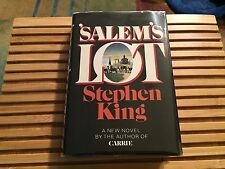 SALEM'S LOT, Stephen King, HC, *True 1st Edition*  (Father Callahan DJ $8.95)