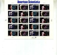 American Scientists .37 20 Stamp Sheet Mnh Scott 3906