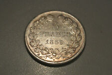 5 FRANCS LOUIS PHILIPPE TETE LAUREE 1839A  tranche relief cote SUP 220 EURO