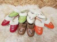 New Ladies Womens Hard Sole Warm Winter Furry Slip On Mules Slippers Shoes TK