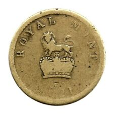More details for official 1821 royal mint coin weight - half sovereign - 2dw 13 1/8 gr