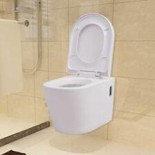 vidaXL Hangend Toilet Keramiek Wit Zwevend WC Toiletpot Wc-Pot Hangtoilet