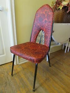 Red/Black Mid-Century MOD Dining Chairs, Set of 4