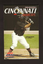 Cincinnati Bearcats--2006 Baseball Pocket Schedule--Stratford Heights