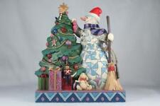 Jim Shore 'Make Your Corner Merry' Snowman Trimming Tree #6002731 New In Box