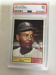 1961 Topps #28 Hector Lopez PSA 7 New York Yankees