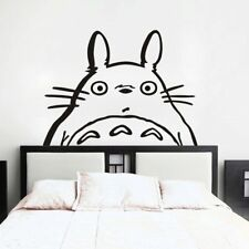 Totoro Inspired Totoro Head Vinyl Wall Decal Sticker Wall Room Black