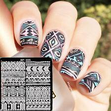 BORN PRETTY Nail Art Stamping Plates Geometry Ethnic Image Template Decor BP-X05