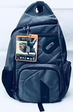 FUL Power Bag Grey Nylon Stay Mobile Charge Station Sling Bag Backpack NWT'