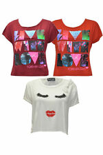 Scoop Neck Regular Cropped Tops & Shirts for Women