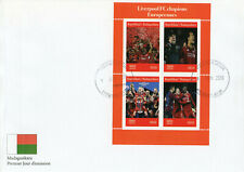 Madagascar 2019 FDC Liverpool FC Champions League 4v M/S Cover Football Stamps