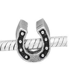 """Horseshoe"" Bead Charm  for Snake Chain Charm Bracelets"