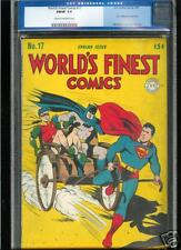 World's Finest Comics #17  CGC  7.0  FN/VF  Universal CGC #0109051020