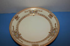 MEITO GOLD ENCRUSTED MULTICOLOR FLOWERS UNUSED EXCELLENT SOUP BOWL