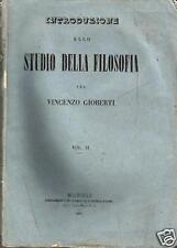 GIOBERTI - INTRODUZIONE STUDIO FILOSOFIA Napoli 1847