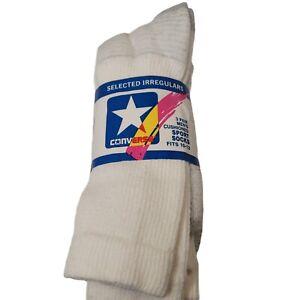 Vintage Converse Socks Made In Usa Cushioned Sport Socks Fits 10-13 Irregulars