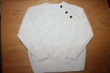 NWOT Janie and Jack High Sea Style size 4 Cream Anchor Pullover Sweater