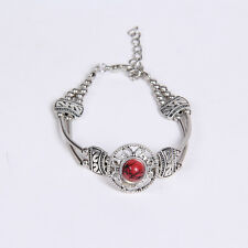 HOT Free shipping New Tibet silver multicolor jade turquoise bead bracelet S53