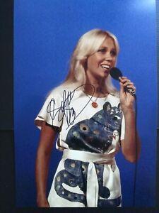 STUNNING AGNETHA FALTSKOG ABBA 12x8 signed photo with coa Ready for framing