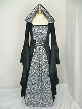 Medieval Dress with Hood Gothic Rose Dress  Ready Made Size 16-18