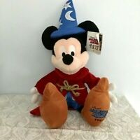 """Disney Sorcerer Mickey Mouse Plush 20"""" Limited Edition Fantasia"""