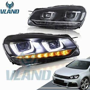For 2010-2014 VW VOLKSWAGEN GOLF 6 GTI MK 6 LED Headlights DRL