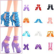10pairs Fashion Accessories Boots High Heel Shoes Sandals For Monster High Doll